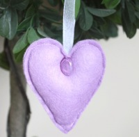 Heart Felt Hanging Decoration - Lilac