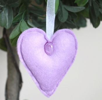 Heart Felt Hanging Decoration - Lilac