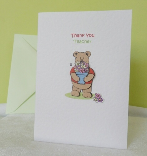 Thank You Teacher - Flowerpot Bear