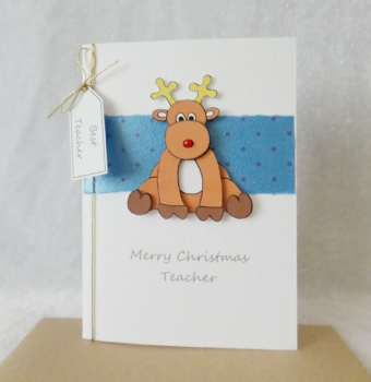A6 Teacher Christmas Reindeer