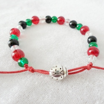 Ladybird Christmas Bracelet