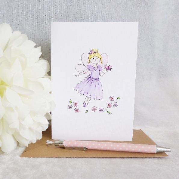 Flower Fairy Card - Blank