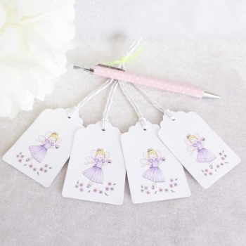 Flower Fairy Gift Tags - set of 4 tags