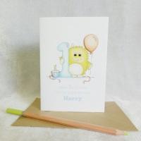 1st Birthday Little Monster Card