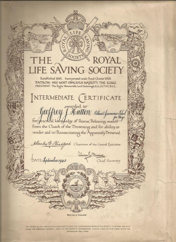 life saving cert