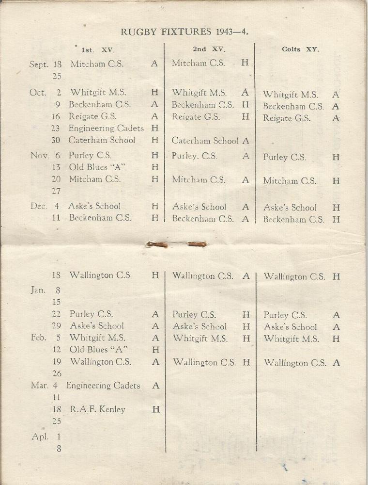 calendar 1943-4 5
