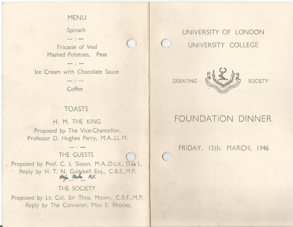 ucl debating soc foundation dinner