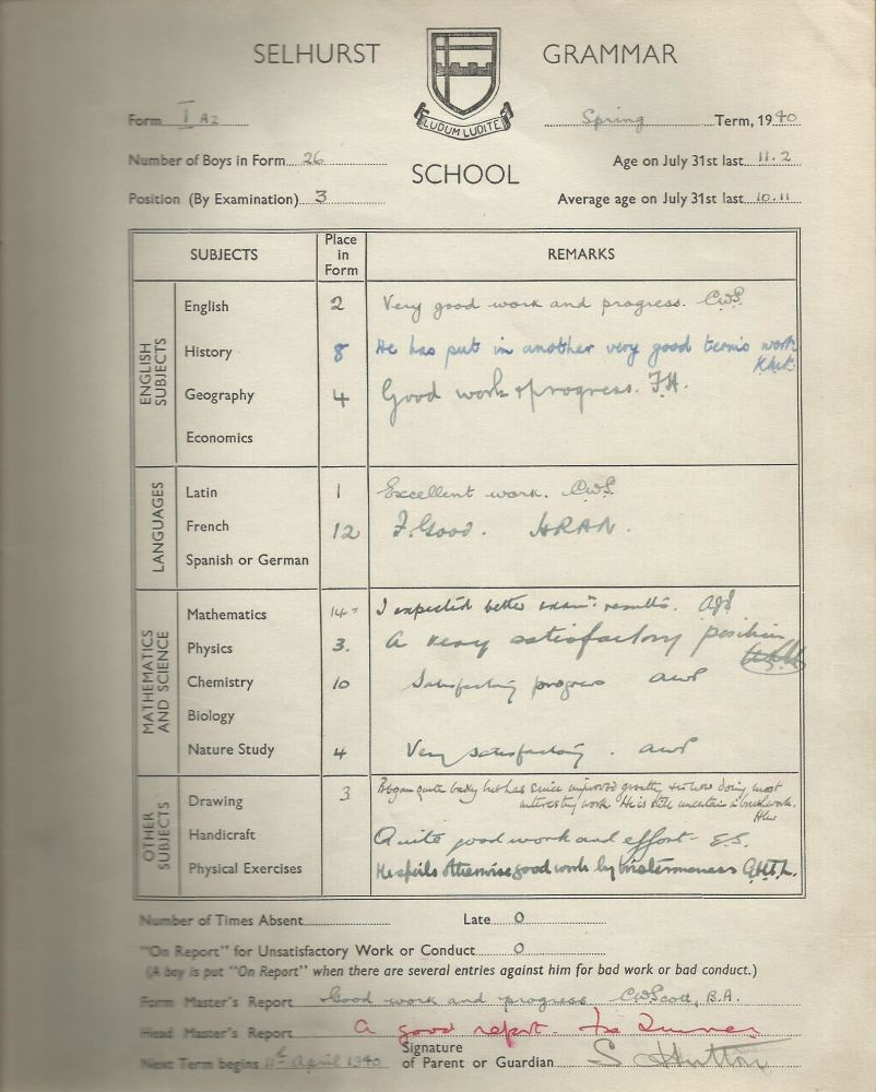 report spring 1940