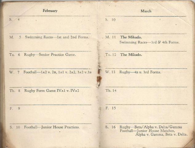 calendar spring 1940. 8