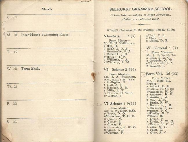 calendar spring 1940. 9