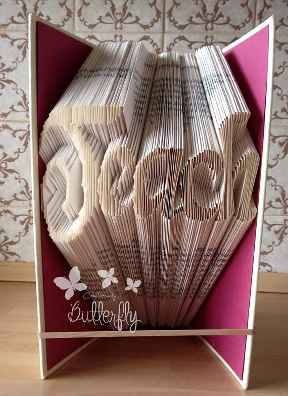 Book Folding Pattern 'Teach' (216 Folds)