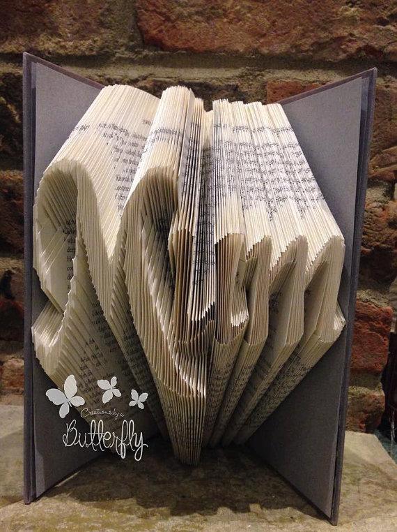 Book Folding Pattern 'Mum' (247 Folds)