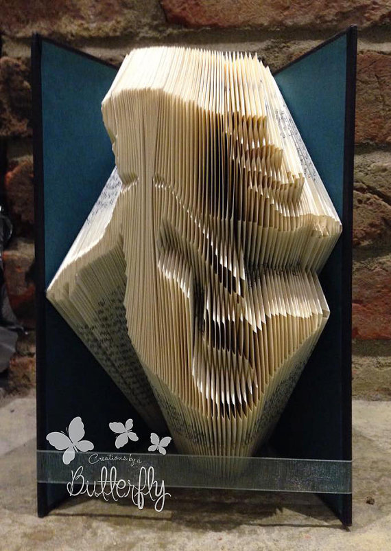 Book Folding Pattern 'Mermaid' (264 Folds)