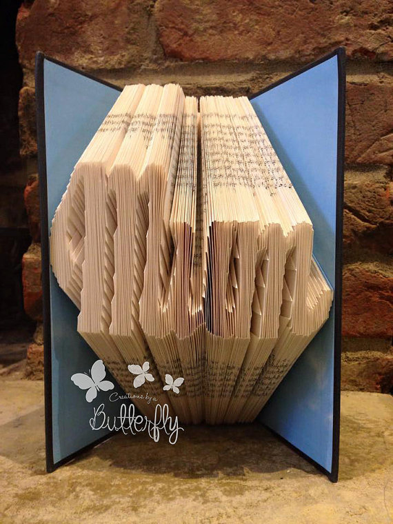Book Folding Pattern 'Mum' (210 Folds)