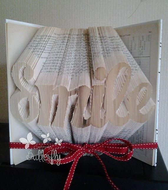 Book Folding Pattern 'Smile' (418 Folds)