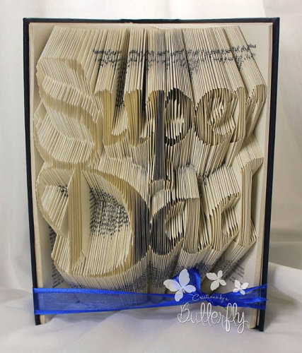 Book Folding Pattern 'Super Dad' (415 Folds)