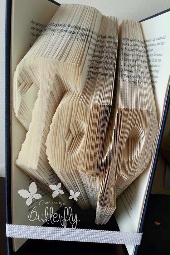 Book Folding Pattern 'Tap' (218 Folds)
