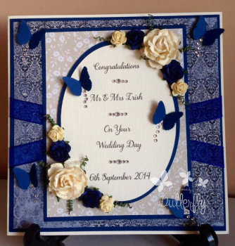 Fully Personalised Wedding Card