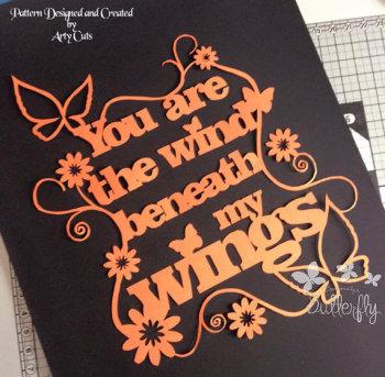 You Are The Wind - Hand Cut Paper Cut