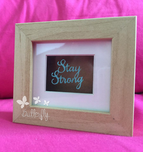 Stay Strong Mini - Hand Cut Paper Cut