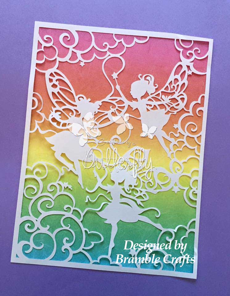 Fairy Sisters 3- Hand finished Paper Cut