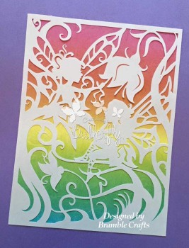 Fairy Sisters - Hand finished Paper Cut