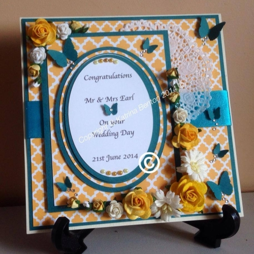 Fully Personalised 6x6 Wedding Card