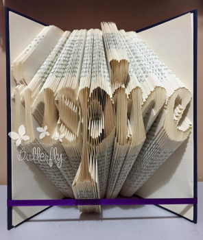 Book Folding Pattern 'inspire' with Hearts (249 Folds)