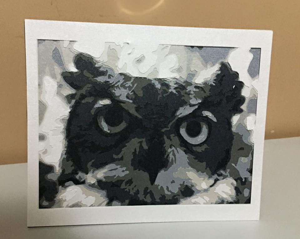 Owl - 8 Layer Cut **Print Yourself**