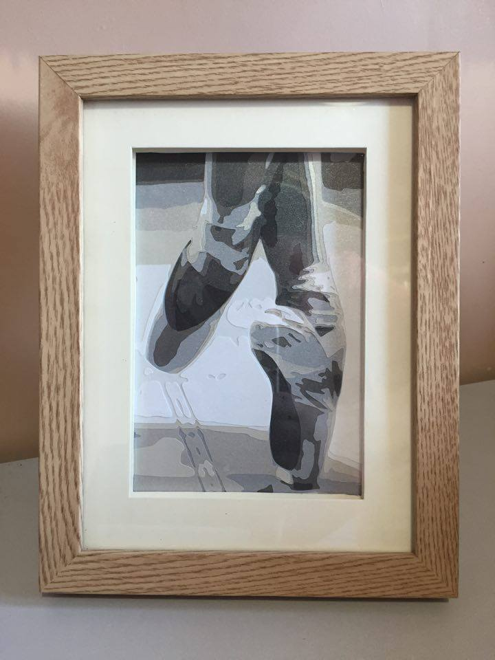 Ballet Shoes **UNFRAMED** 5x7 inch