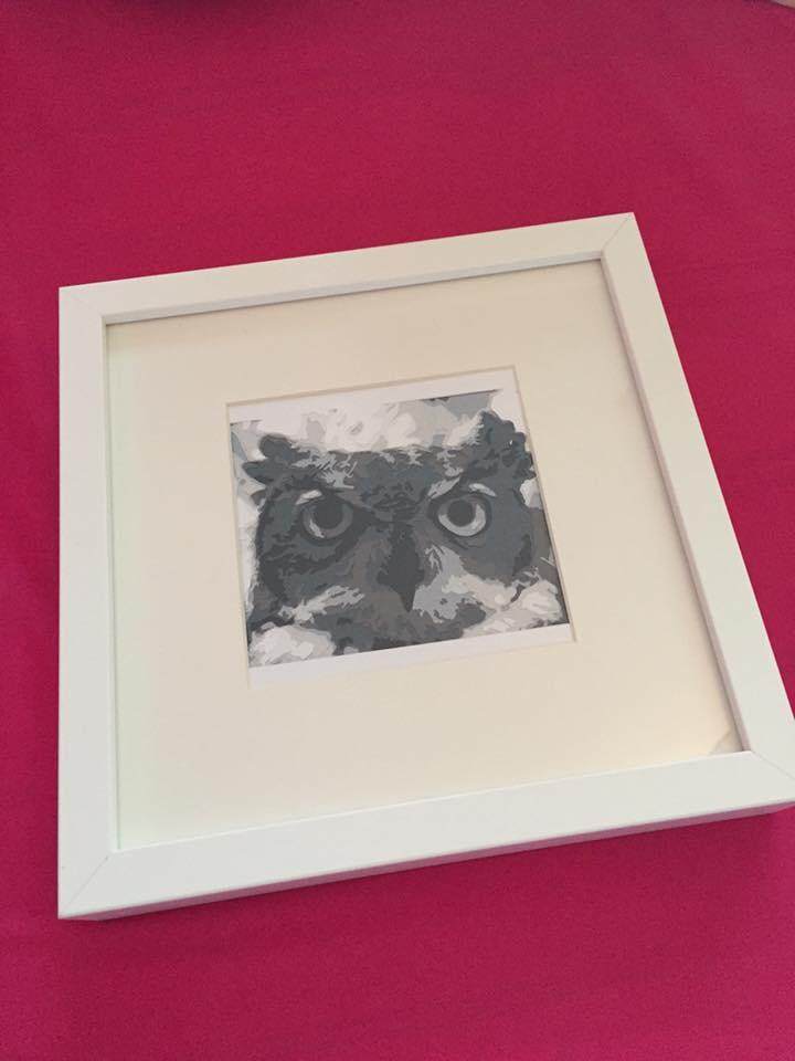 Owl **UNFRAMED** 4x4 inch