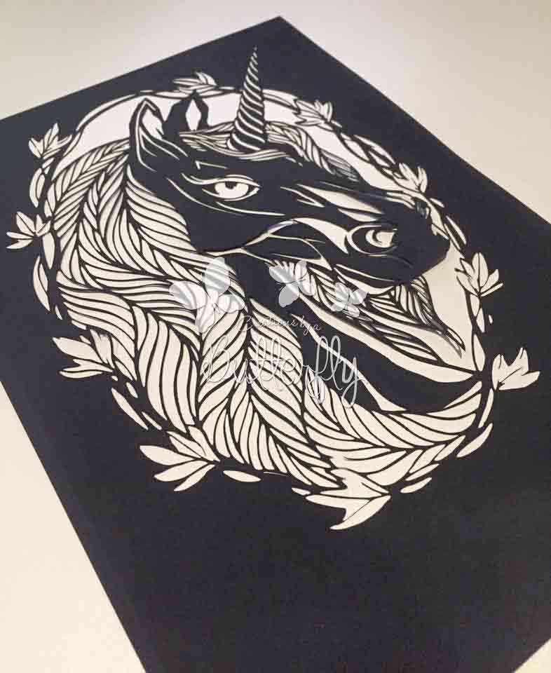 Purity Unicorn Paper Cut