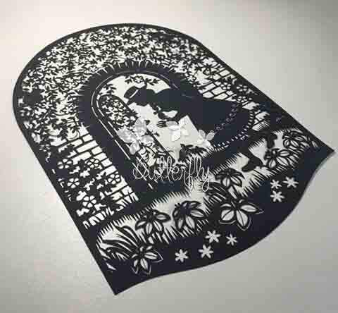The Secret Garden - Hand finished Paper Cut