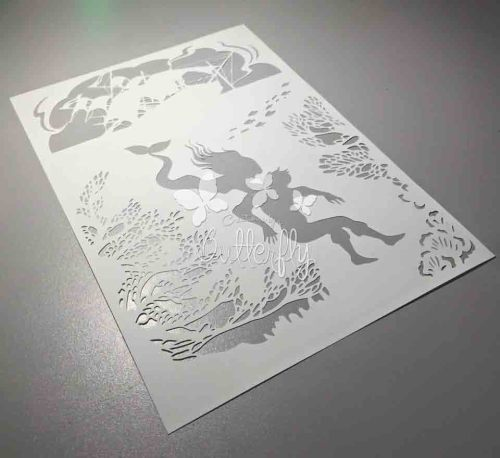 Little Mermaid - Hand finished Paper Cut