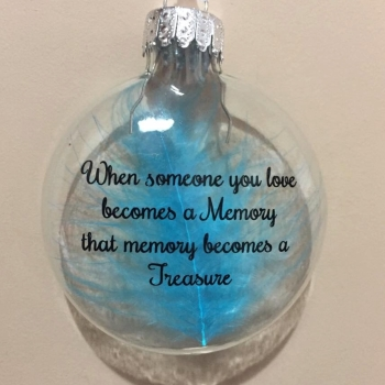 When someone you Love Becomes a Memory - Glass Bauble