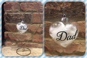 9cm Feather Filled Bauble - Your Choice of Words