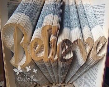 Book Folding Pattern 'Believe' (584 Folds)