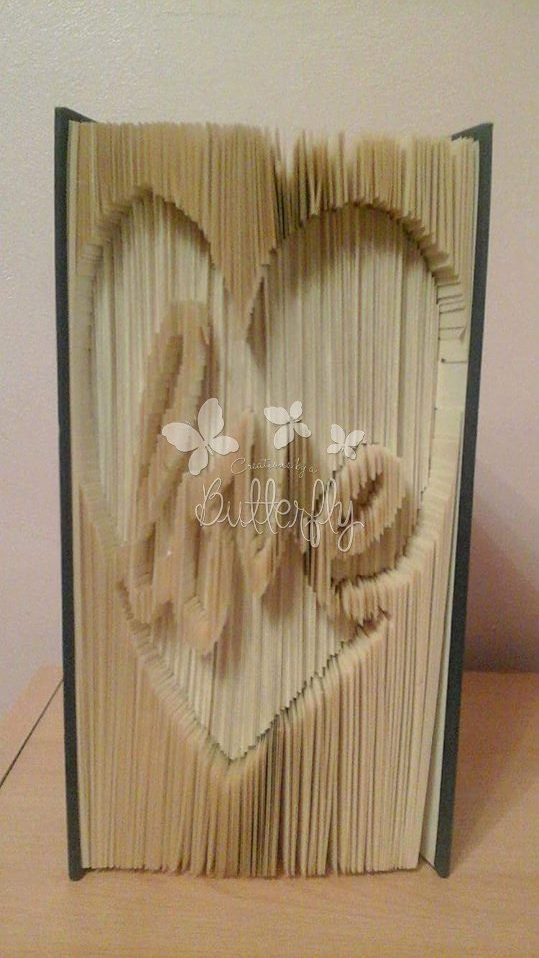 Book Folding Pattern - Measure, Mark, Cut & Fold 'Love in Heart' (300 Paes)