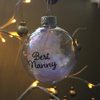 Best Nanny Glass Bauble