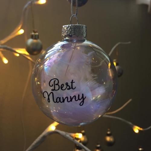 Best Nanny 6cm Glass Bauble