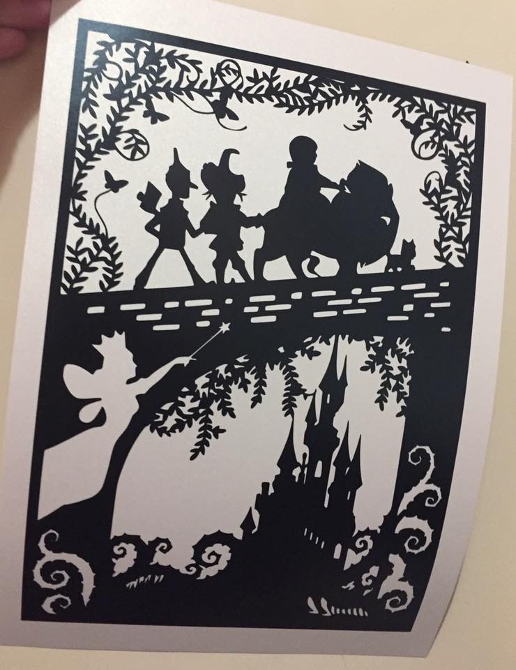 Oz - Hand finished Paper Cut