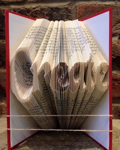 Book Folding Pattern 'Create' (226 Folds)