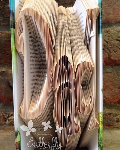Book Folding Pattern 'Dad' Funky Font (164 Folds)