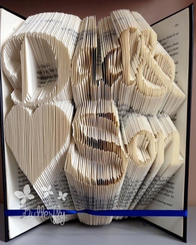 Book Folding Pattern 'Dad & Son' Classic Font (435 Folds)