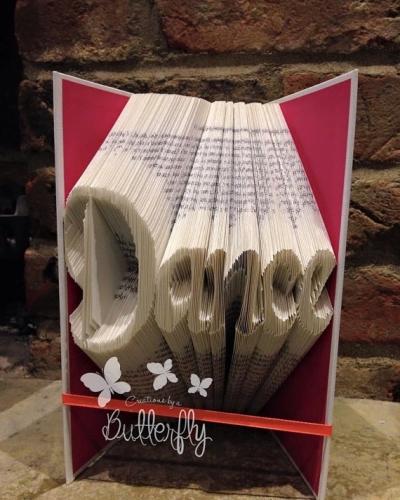 Book Folding Pattern 'Dance' Classic Font (274 Folds)