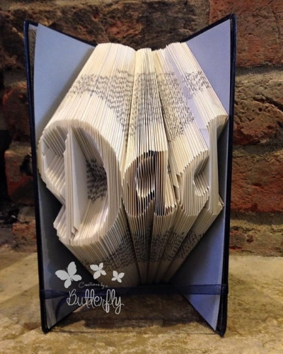 Book Folding Pattern 'Dad' Classic Font (160 Folds)