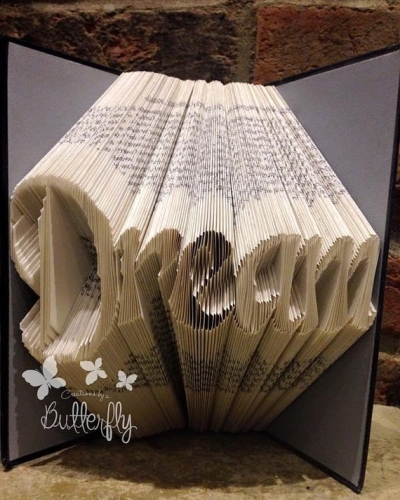 Book Folding Pattern 'Dream' Classic Font (290 Folds)