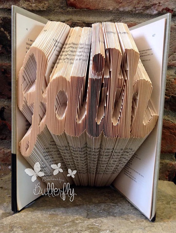 Book Folding Pattern 'Faith' Fun Font (315 Folds)