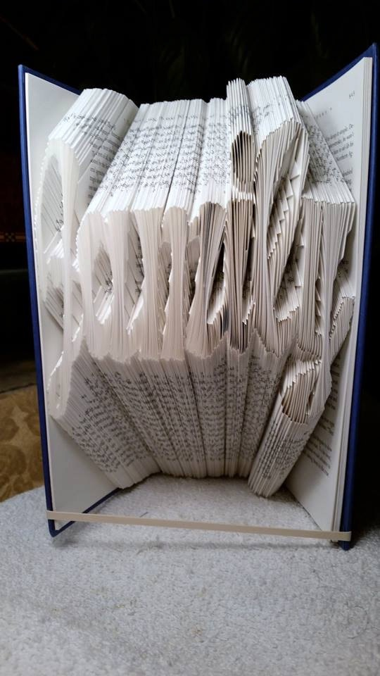 Book Folding Pattern 'Family' Fun Font (425 Folds)