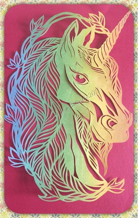 Purity Unicorn Paper Cut - Rainbow